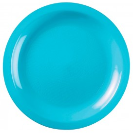 Assiette Plate Turquoise Round PP Ø220mm (50 Utés)