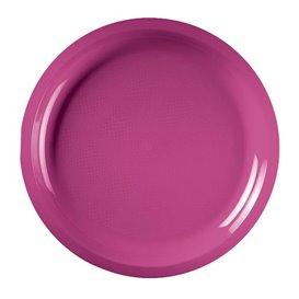 Assiette en Plastique Fuchsia Round PP Ø290mm (25 Utés)