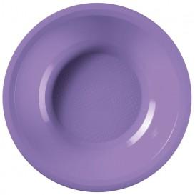 Assiette Plastique Réutilisable Creuse Lilas PP Ø195mm (50 Utés)
