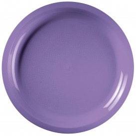 Assiette Plastique Réutilisable Lilas PP Ø290mm (25 Utés)