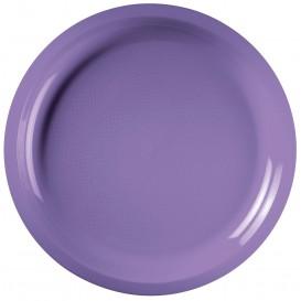 """Plastic bord lila """"Rond vormig"""" PP Ø29 cm (25 stuks)"""