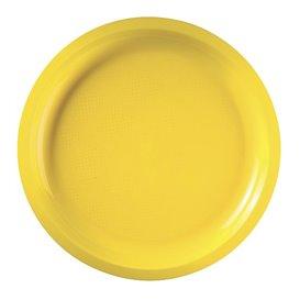 Assiette en Plastique Jaune Round PP Ø290mm (25 Utés)