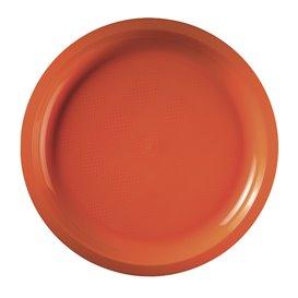 Assiette Plastique Réutilisable Orange PP Ø290mm (25 Utés)