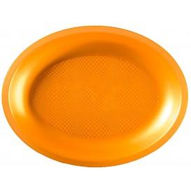 Plateau Plastique Ovale Or Round PP 315x220mm (120 Utés)