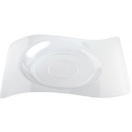 """Assiette plastique """"Forma"""" Transparent 28x23 cm (12 Utés)"""