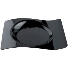 """Assiette plastique """"Forma"""" Noir 28x23 cm (12 Utés)"""