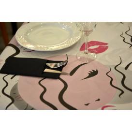 """Voorgesneden papieren tafelkleed """"Kiss"""" 37g 1x1m (400 eenheden)"""