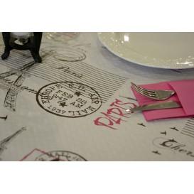 """Voorgesneden papieren tafelkleed """"Paris"""" 37g 1x1m (400 eenheden)"""