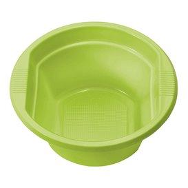 Bol Plastique PS Vert citron 250ml Ø12cm (30 unités)