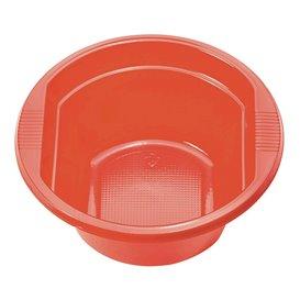 Bol Plastique PS Rouge 250ml Ø12cm (30 unités)