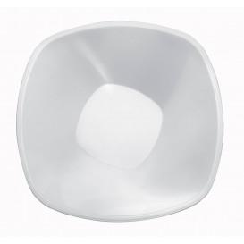 """Plastic Kom PP """"Vierkant"""" wit 1250ml Ø21cml (60 stuks)"""