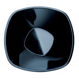 """Plastic Kom PP """"Vierkant"""" zwart 1250ml Ø21cm (60 stuks)"""