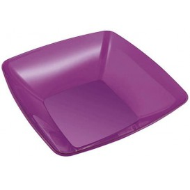 Plastic Kom PS Kristal Hard aubergine kleur 3500ml 28x28cm (1 stuk)