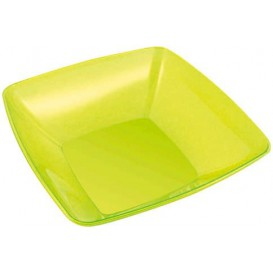 Plastic Kom PS Kristal Hard groen 3500ml 28x28cm (20 stuks)