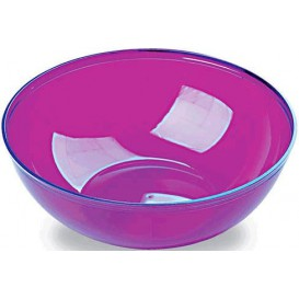 Plastic Kom PS Kristal Hard aubergine kleur 3500ml Ø27cm (20 stuks)