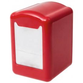 Distributeur à Serviettes Plastique Rouge 17x17cm (12 Utés)