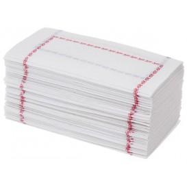 """Papieren servet """"Zigzag"""" rood en blauw 14x14 (250 stuks)"""