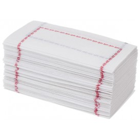 """Papieren servet """"Zigzag"""" rood en blauw 14x14 (25.000 stuks)"""