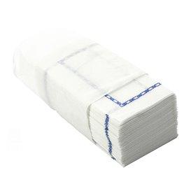 """Papieren servet """"Zigzag"""" Decoratief border wit 14x14cm (30000 stuks)"""