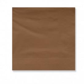 Serviette Papier à Cocktail 30x30cm Marron (4500 Utés)