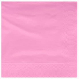 Serviette Papier à Cocktail 40x40cm Rose (50 Utés)
