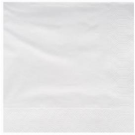 Serviette Papier à Cocktail 25x25cm Blanc (3400 Utés)
