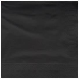 Serviette Papier à Cocktail 25x25cm Noir (200 Utés)