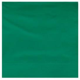Papieren servet groene rand 25x25cm 2C (200 stuks)