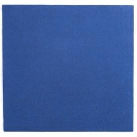 Papieren servet blauw 25x25cm 2C (50 stuks)