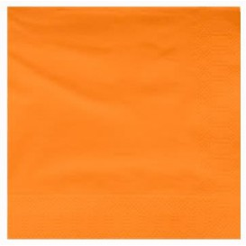 Serviette Papier à Cocktail 40x40cm Orange (2400 Utés)
