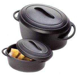 Proeverij ovenschotel met deksel PP zwart 80ml (6 stuks)