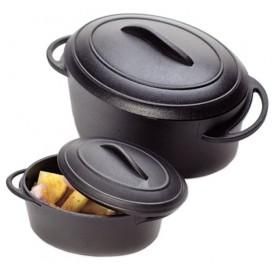 Verrine cocotte Noir avec Couvercle 5x3,5cm 80ml (6 unités)