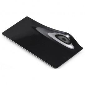 Assiette Dégustation Carrée Gogo PS Noir 14x5.8cm (400 Utés)