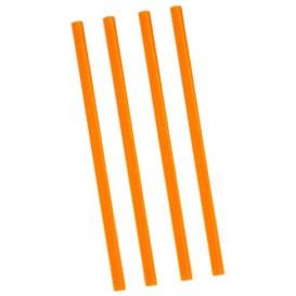 Plastic recht PS rietje voor Frappé verpakt Ø0,8cm 22cm (500 stuks)