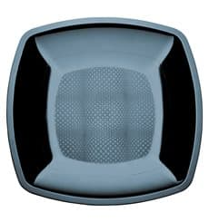 Assiette Plastique Réutilisable Plate Noir  PS 230mm (25 Utés)