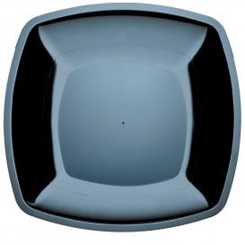 Assiette Plastique Réutilisable Plate Noir PS 300mm (12 Utés)