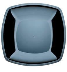 Assiette Plastique Plate Noir Square PS 300mm (144 Utés)