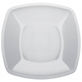 Assiette Plastique Lisse Blanc 180mm (25 Utés)