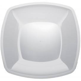 Assiette Plastique Réutilisable Plate Blanc PS 300mm (12 Utés)