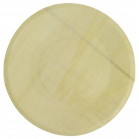 Houten schaal Rond vormig 21,5cm (250 stuks)