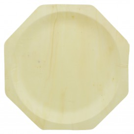 Houten schaal Achthoekig 26cm (50 stuks)