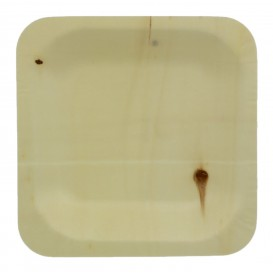 Houten schaal Vierkant 11,5x11,5cm (50 stuks)