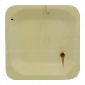 Houten schaal Vierkant 11,5x11,5cm (400 stuks)
