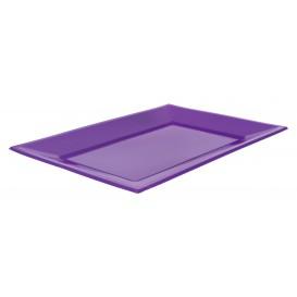 Plastic dienblad lila 33x22,5cm (3 stuks)