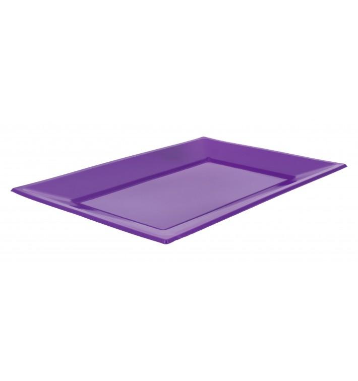Plateau Plastique Lilas Rectang. 330x225mm (3 Utés)