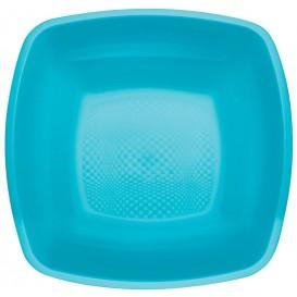 Assiette Plastique Réutilisable Creuse Turquoise PP 180mm (300 Utés)