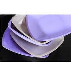 Assiette Plastique Plate Beige Square PS 300mm (12 Utés)
