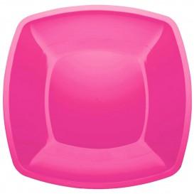 Assiette Plastique Réutilisable Plate Fuchsia PS 300mm (12 Utés)