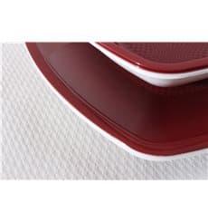 Assiette Plastique Réutilisable Plate Bordeaux  PP 180mm (25 Utés)