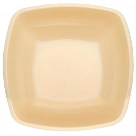 Assiette Plastique Réutilisable Creuse Crème PP 180mm (25 Utés)